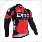 2016 Team BMC Cycling Long Jersey Maillot Red Black