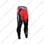 2016 Team BMC Cycling Long Pants Tights Red Black