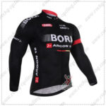 2016 Team BORA ARGON 18 Cycling Long Jersey Maillot Shirt Black
