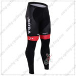 2016 Team BORA ARGON 18 Cycling Long Pants Tights Black