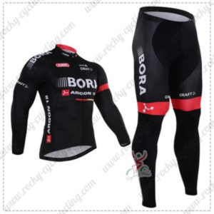 2016 Team BORA ARGON 18 Cycling Long Suit Black