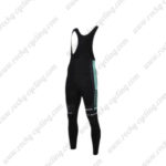 2016 Team Bianchi Cycling Long Bib Pants Tights Black Blue