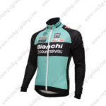 2016 Team Bianchi Cycling Long Jersey Maillot Black Blue