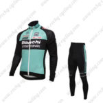 2016 Team Bianchi Cycling Long Suit Black Blue