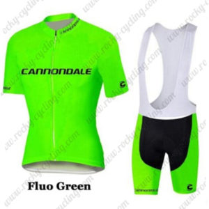 2016 Team Cannondale Cycle Bib Kit Fluo Green