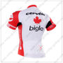 2016 Team Cervelo Bigla Bicycle Jersey Maillot Shirt White Red