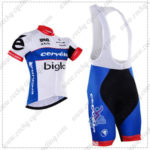 2016 Team Cervelo Bigla Cycle Bib Kit White Blue