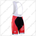 2016 Team Cervelo Bigla Cycling Bib Shorts Bottoms Black Red