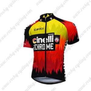 2016 Team Cinelli Cycling Jersey Maillot Shirt Red Yellow