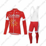 2016 Team Cofidis Cycling Long Bib Suit Red