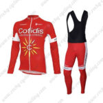 2016 Team Cofidis Riding Long Bib Suit Red