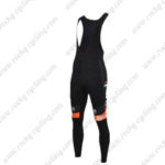 2016 Team DE ROSA Santini Cycling Long Bib Pants Tights Black Orange