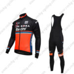 2016 Team DE ROSA Santini Cycling Long Bib Suit Black Orange