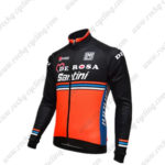 2016 Team DE ROSA Santini Cycling Long Jersey Maillot Black Orange