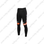 2016 Team DE ROSA Santini Cycling Long Pants Tights Black Orange