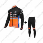 2016 Team DE ROSA Santini Cycling Long Suit Black Orange