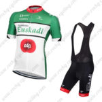 2016 Team Euskadi edp Cycling Bib Kit Green White