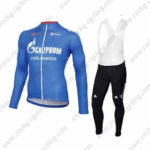 2016 Team GAZPROM COLNAGO Cycling Long Bib Suit Blue