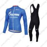2016 Team GAZPROM COLNAGO Riding Long Bib Suit Blue