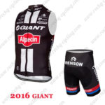 2016 Team GIANT Alpecin Cycle Sleeveless Kit