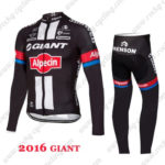 2016 Team GIANT Alpecin Cycling Long Suit Black