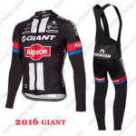 2016 Team GIANT Alpecin Riding Long Bib Suit Black