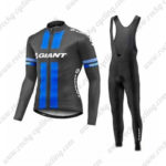 2016 Team GIANT Cycling Long Bib Suit Black Blue