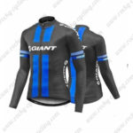 2016 Team GIANT Cycling Long Jersey Maillot Black Blue