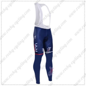 2016 Team IAM Cycling Long Bib Pants Tights Blue