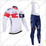 2016 Team IAM Cycling Long Bib Suit White Blue