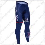 2016 Team IAM Cycling Long Pants Tights Blue