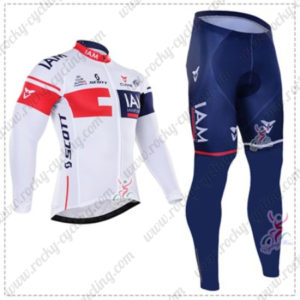 2016 Team IAM Cycling Long Suit White Blue