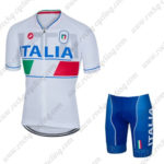 2016 Team ITALIA Castelli Cycling Kit White Blue