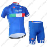 2016 Team ITALIA Tagetik Castelli Bicycle Kit Blue