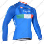 2016 Team ITALIA Tagetik Castelli Cycling Long Jersey Maillot Blue