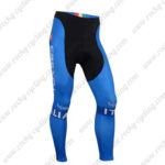 2016 Team ITALIA Tagetik Castelli Cycling Long Pants Tights Blue