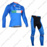 2016 Team ITALIA Tagetik Castelli Cycling Long Suit Blue