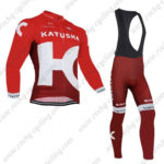 2016 Team KATUSHA Cycling Long Bib Suit Red
