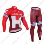 2016 Team KATUSHA Cycling Long Suit Red