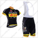 2016 Team KUOTA LOTTO Cycling Bib Kit Black Yellow