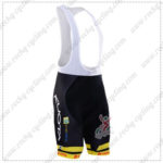 2016 Team KUOTA LOTTO Cycling Bib Shorts Bottoms Black Yellow