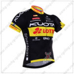 2016 Team KUOTA LOTTO Cycling Jersey Maillot Shirt Black Yellow