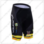 2016 Team KUOTA LOTTO Cycling Shorts Bottoms Black Yellow