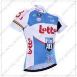 2016 Team LOTTO Fix All Cycling Jersey Maillot Shirt White Blue