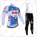 2016 Team LOTTO Fix All Cycling Long Bib Suit White Blue