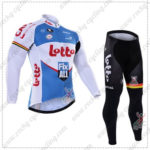 2016 Team LOTTO Fix All Cycling Long Suit White Blue