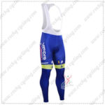 2016 Team Lampre MERIDA Cycling Long Bib Pants Tights Blue
