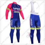 2016 Team Lampre MERIDA Cycling Long Bib Suit Pink Blue