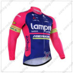 2016 Team Lampre MERIDA Cycling Long Jersey Maillot Pink Blue