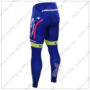 2016 Team Lampre MERIDA Cycling Long Pants Tights Blue